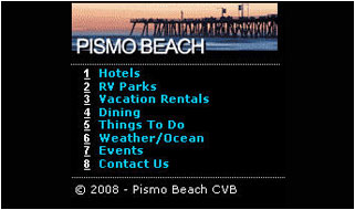 Pacific Leisure Mobile Websites