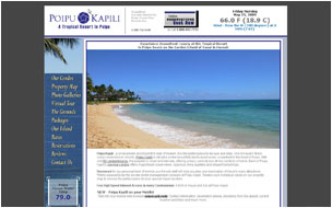 New Website for Poipu Kapili on Kauai