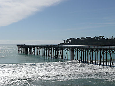 Pier in San Simeon CA