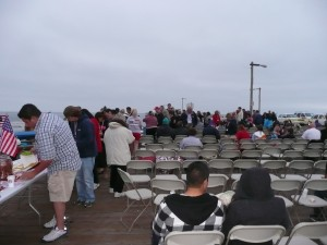 VIP Seating on the Pismo pier for viewing the Fireworks