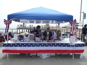 Pismo Beach Chamber of Commerce Booth on the 4th of July